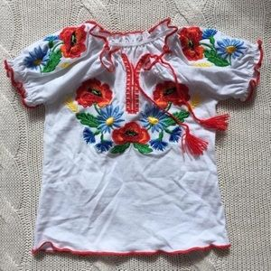 Other - Embroidered boho baby shirt